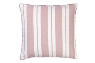 Nordic striped cotton pude 50x50 cm Magnolia fra Cozy Living